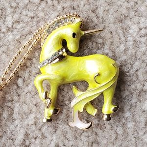 Betsey Johnson unicorn necklace